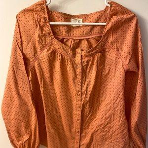 Levi's boho polka dot blouse Size S